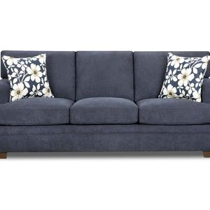 Simmons Upholstery Midnight Blue Chicklet Transitional Sofa
