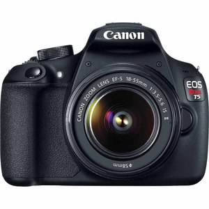 Canon 18.0-Megapixel EOS Rebel T5 Digital SLR Camera with 18-55mm Lens Black
