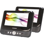 Sylvania Portable 7-inch Dual Screen DVD - SDVD8737