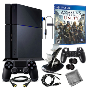 Sony PS4 500GB with Assassin's Creed Unity & Accessories
