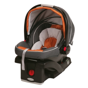 Graco SnugRide Click Connect 35 Baby Car Seat, in Tangerine