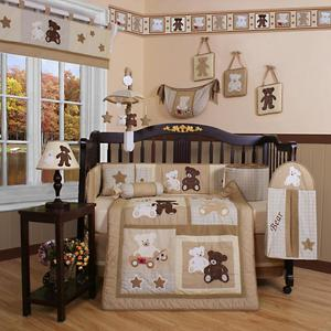 GEENNY Teddy Bear 13PCS Crib Bedding Set