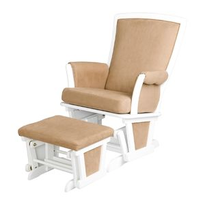 Delta Children Glider Chair With Ottoman White