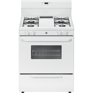 Kenmore 4.2 cu. ft. Freestanding Gas Range w/ Broil & Serve™ Drawer - White
