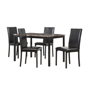 Oxford Creek Mio Faux Marble 5-Piece Casual Dining Set