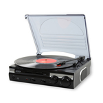 Jensen 3-Speed Stereo Turntable with Built In Speakers and Speed Adjustment