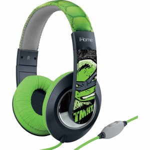 KIDdesigns eKids Teenage Mutant Ninja Turtles Over-the-Ear Headphones w/ Volume Control