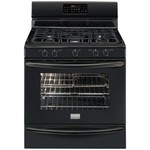 """Frigidaire FGGF3054MB Gallery Series 30"""" Black Freestanding Gas Range with 5.0 Cu. Ft. Convection Oven"""