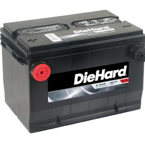 Diehard Automotive Battery - Group Size 78 North (Price with Exchange)