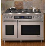 Dacor Epicure 48 In. Stainless Steel Freestanding Dual Fuel Range - ER48DSCHLPH