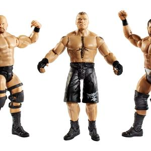 WWE Figure 3 Pack Stone Cold Steve Austin, Brock Lesnar & Curtis Axel Kmart Exclusive