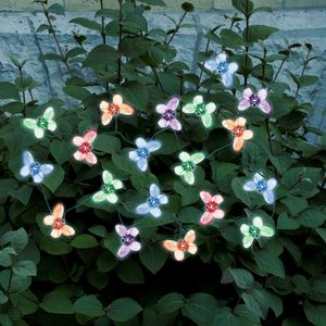 Smart Solar 20 Butterfly Solar Color LED String Light Set