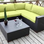 Bellini Home and Gardens Wildon 4- Piece Patio Sectional Set Featuring Sunbrella® Fabric