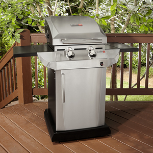 Char-Broil 2 Burner Infrared Gas Grill with Folding Side Shelves
