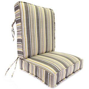 Jordan Manufacturing Co., Inc. Brandy Stripe Putty Deep Seating Boxed Style Cushion