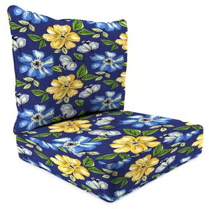 Jordan Manufacturing Co., Inc. 2 Piece Deep Seat Chair Cushion in Janice Royal