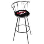 Coors Light Weatherproof Padded Outdoor Bar Stool - Silver - Set of 2