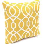 "Essential Garden Fincher Gold 16"" Patio Throw Pillow"