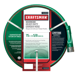 Craftsman Heavy Duty Neverkink® Self-Straightening Hose - 75-ft