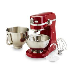 Kenmore Elite 5 Qt 400 Watt Red Stand Mixer with Extra 3 Qt Bowl