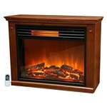 Lifesmart Large Room Infrared Quartz Fireplace in Burnished Oak Finish w/Remote [Quakerstown Dark Oak, 1]