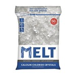 MELT 50 Lb. Resealable Bag Calcium Chloride Crystals Ice Melter – MELT50CC