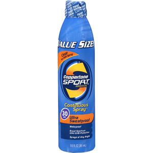 Coppertone Sport High Performance Ultra Sweatproof SPF 30 Sunscreen