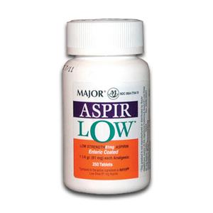 Major Aspirin Low Strength Aspirin Tablets