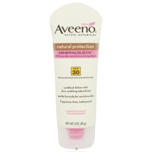 Aveeno Active Naturals Natural Protection MineralBlock Sunscreen SPF 30