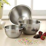 Wolfgang Puck Bistro 3-piece Stainless Steel Mixing Bowl Set