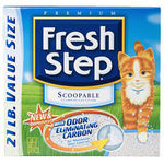 Fresh Step Scoopable Litter with Odor- Eliminating Carbon