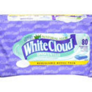 White Cloud Natural Aloe Wipes