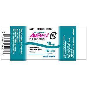 Ambien Zolpidem Tartrate Medication