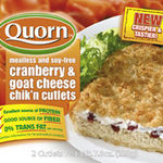 Quorn Cranberry and Goat Cheese Chik'n Cutlets