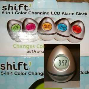 Shift3 5-in-1 Color Changing LCD Alarm Clock