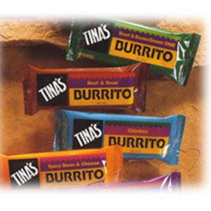 Tina's Frozen Burritos - Various flavors