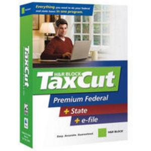 H&R Block Taxcut Premium Federal + State + e-file Software