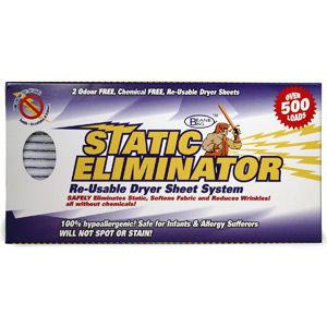Static Eliminator Re-Usable Dryer sheets