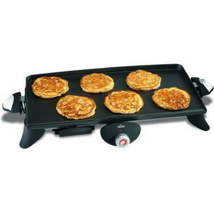 """Rival 10"""" x 20"""" Griddle with Removable Griddle Plate"""
