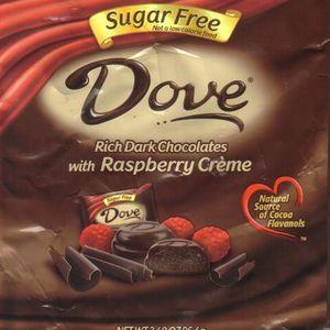 Dove Sugar Free Rich Dark Chocolates with Raspberry Creme