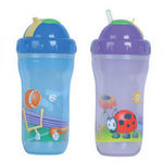 Nuby 9oz Insulated No Spill Straw Cups - 2pk