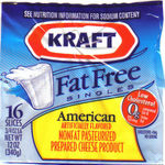Kraft Fat Free American Singles Cheese