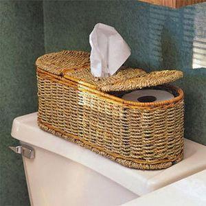 Organize.com 2-in-1 Sea Grass Bath Tissue Holder