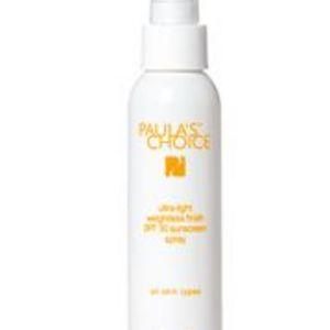 Paula's Choice Ultra Light Weightless Finish SPF 30 Sunscreen Spray