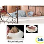 Serta 2-inch Memory Foam Mattress Topper with Contour Pillows
