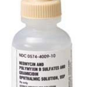 Bausch + Lomb Neomycin and Polymyxin B Sulfates and Gramicidin Ophlthalmic USP Contact Solution