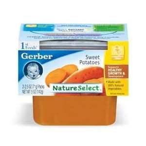 Gerber NatureSelect 1st Foods Sweet Potatoes