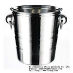 JiangMenKT Stainless steel ice bucket