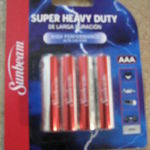 Sunbeam - Super Heavy Duty batteries