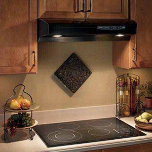 Broan Allure QS130BL 30 Inch Black Kitchen Range